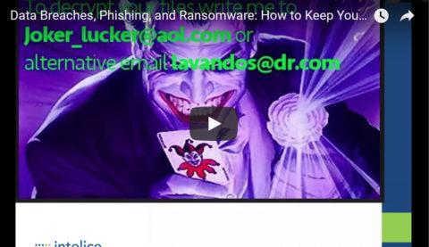 Data Breaches, Phishing and Ransomware